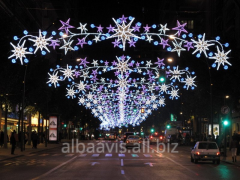 New Year's street designs, arches, extensions,