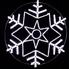 Snowflake New Year's of a dyuralayt on a
