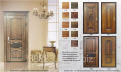 Door, decorative finishing by panels from the