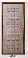 The panel the milled FL-26 laminated by 6, 10, 16