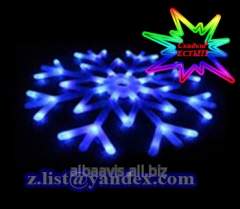 Snowflake New Year's plastic