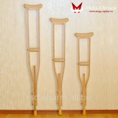 Crutches axillary wooden