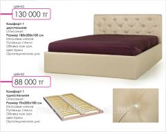 Кровать Комфорт 1 двухспальная цвет Крем