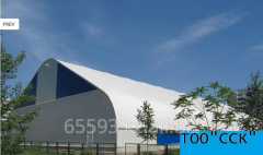 The fast-built hangar under a sports construction