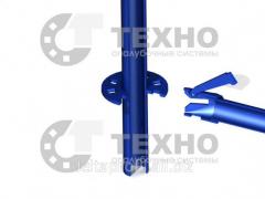 Wedge of node of fastening of cross frame