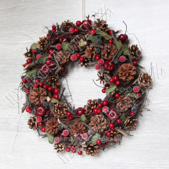 Big festive New Year's wreath