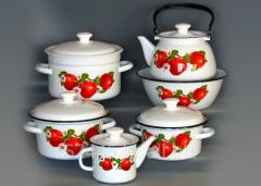 Set of conic kitchen ware Bulk yablochko-SA-1