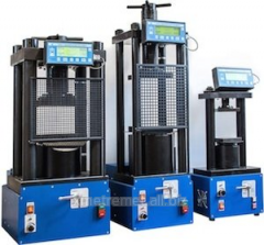 THE PRESS TEST HYDRAULIC SMALL-SIZED ON 50, 100,