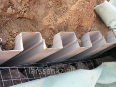 Tongue-and-groove piles of the Z AZ 25 profile