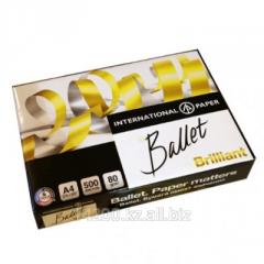 Бумага Ballet Brilliant IP, класс А+, белизна CIE - 168% , плотность 80 гм2 формат А4, 21 х 29,7 см