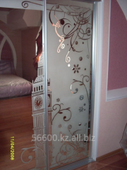 Sliding wardrobe glass