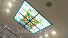 Glass stained-glass windows