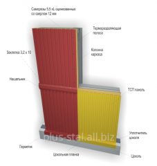 Wall a sandwich panel with the Z-LOCK system
