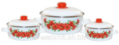 Set of pans steel East poppy