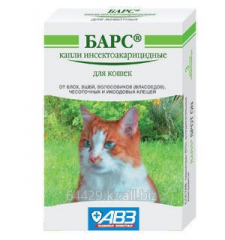Капли от блох и клещей БАРС – для кошек,1 пипетка