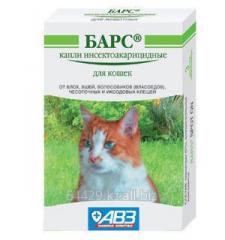 Капли от блох и клещей БАРС – для кошек,1уп.-3
