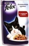 Felix pieces with beef in jelly for cats, 85 g