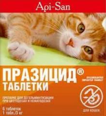 Празицид от глистов для кошек,  6 таб