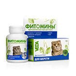 Phytomines for hair of cats, 100tab.