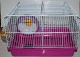 Cage for hamsters with two offices, the size
