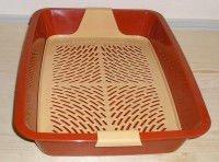 Туалет Догман для кошек большой с сеткой,