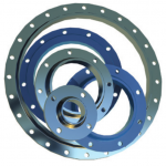 Flange welded end-to-end