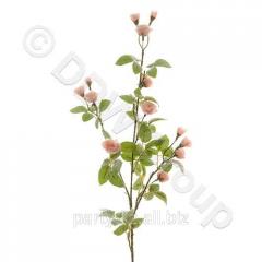 Декор Веточка с розочками из шелка розовая 75см