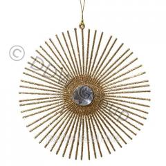 Декор Орнамент пластиков.с блеск золото 15см