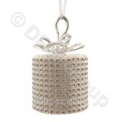 Декор Подарок со стразами бел, серебристый...