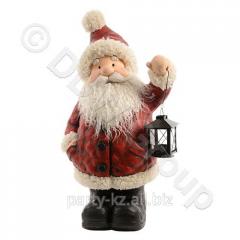 Декорация Дед Мороз бордовый с фонарем...