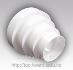 Connector of round air ducts central universal PU