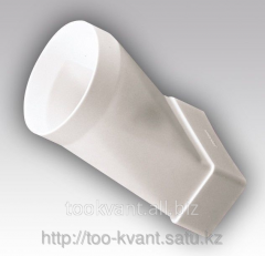 Connector eccentric flat air ducts with round