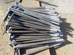 Anchor base bolts of GOST 24379.1.80