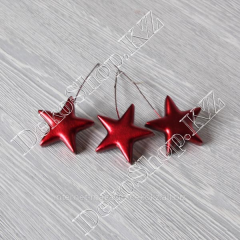 Decorative stars on a wire, 3 pieces, color a red