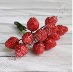 Bouquet with raspberry berries