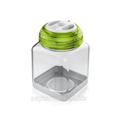 The container for spices of plastic 8х8х12 cm -