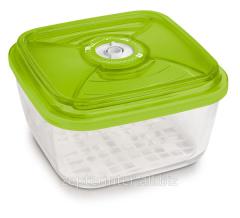 The container of glass square big 22х22х10,5 cm -