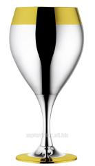 Набор бокалов для вина посеребр.с золот.декором, 6