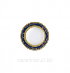 Royal Gold Cobalt - plates for bread, 17 cm of