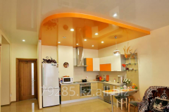 Stretch ceiling on kitchen