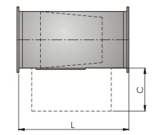 Шумоглушитель канальный  FK-4