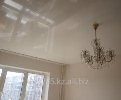 Белый глянцевый потолок MSD