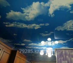 Натяжной потолок Фактурные  Небо  и  Искра MSD