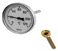 "Термометр с гильзой d=100 G1/2"" 0-200 C°"
