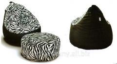 Zebra padded stool