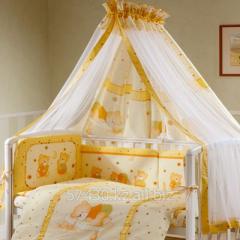 Комплект в кроватку  Ника- Мишка на подушке