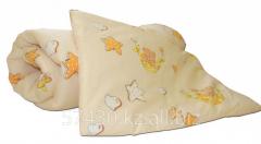 Комплект  одеяло, подушка , желтый к-10