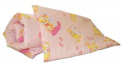 Комплект  одеяло, подушка , розовый к-10
