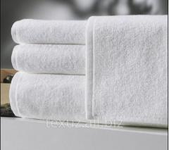 Полотенце махровое белое для лица 50х90см 100%