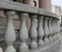 Rail-posts from granite